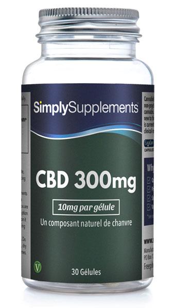 Gélules de CBD 300mg - 10mg par dose