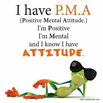 Positive mental attitude graphic