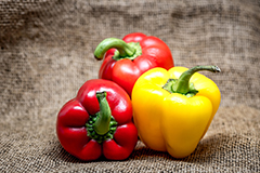 Capsicums are a rich source of vitamin C and actually contain more than oranges.