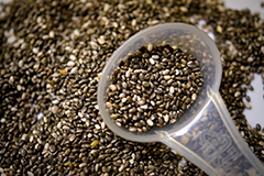 Chia seeds have one of the highest proportions of fibre of any food.