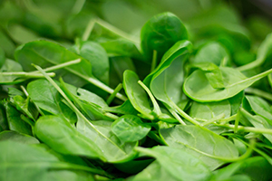 Leafy greens like spinach are a rich source of magnesium in the diet.