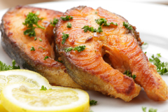 Oily fish like salmon and mackerel are great sources of omega 3 fats.