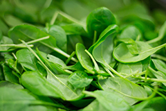 Leafy greens like spinach can be a great source of fibre in your diet.