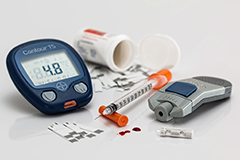 Diabetes is usually diagnosed by health professionals.