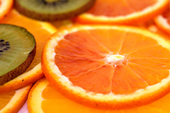 Citrus fruits, yellow peppers and many berries are great sources of vitamin C - a potent antioxidant in the diet.
