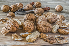 Nuts are a great source of vitamin E.