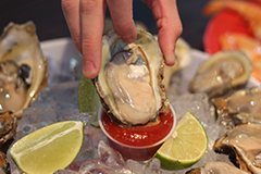 Many sea foods like oysters are excellent sources of zinc in the diet.