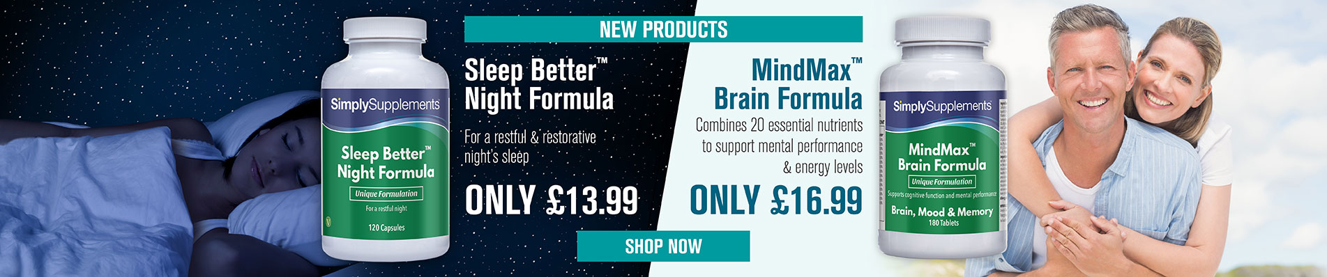New Sleep Better Formula and MindMax Brain Formula