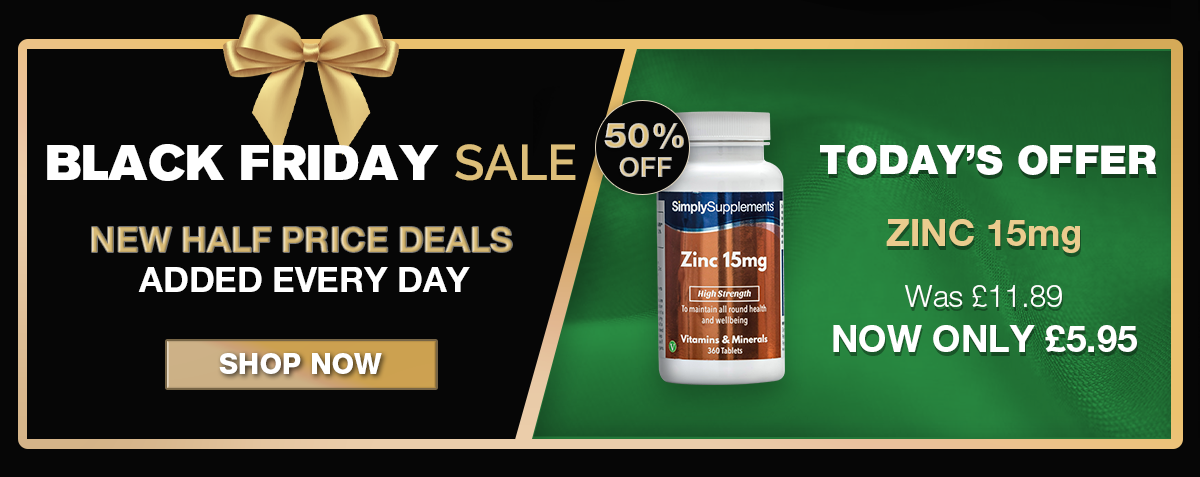 Black Friday Special: 50% off Zinc 15mg