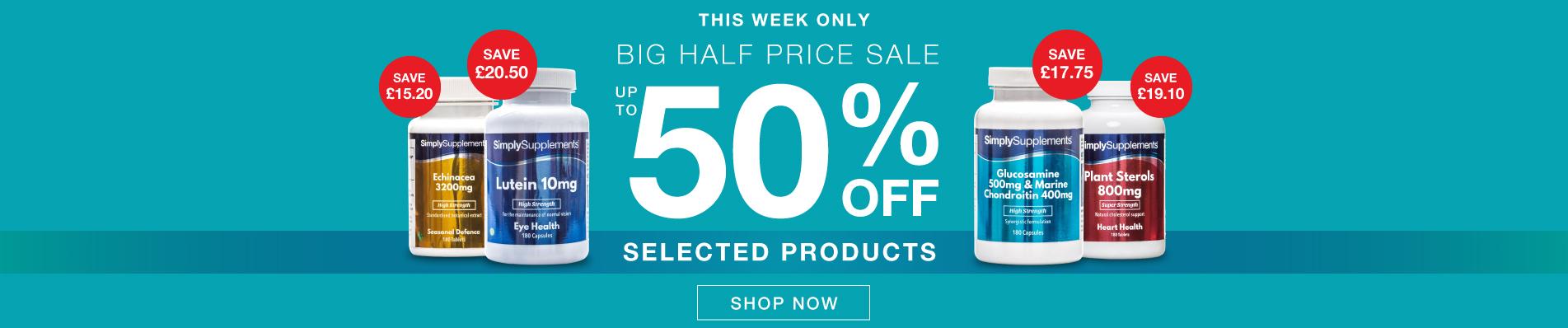 The Big Half Price Sale Event
