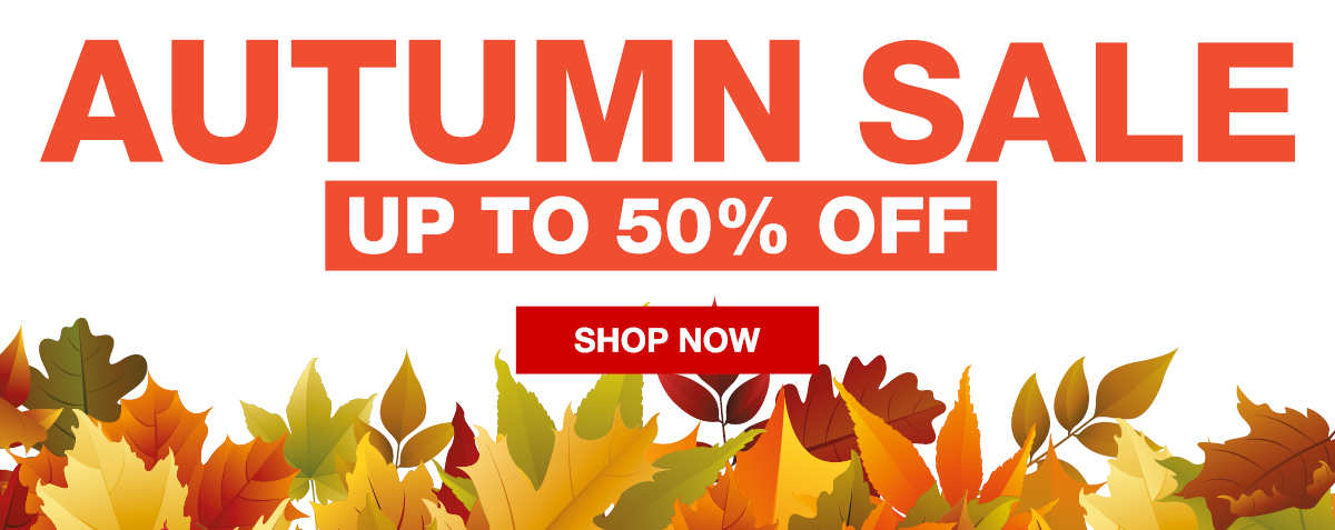 Autumn Sale - up to 50% off