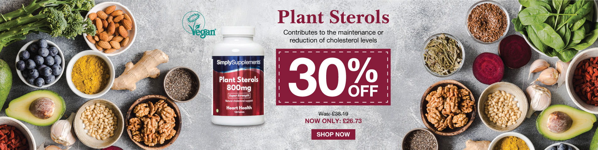 30% off Plant Sterols