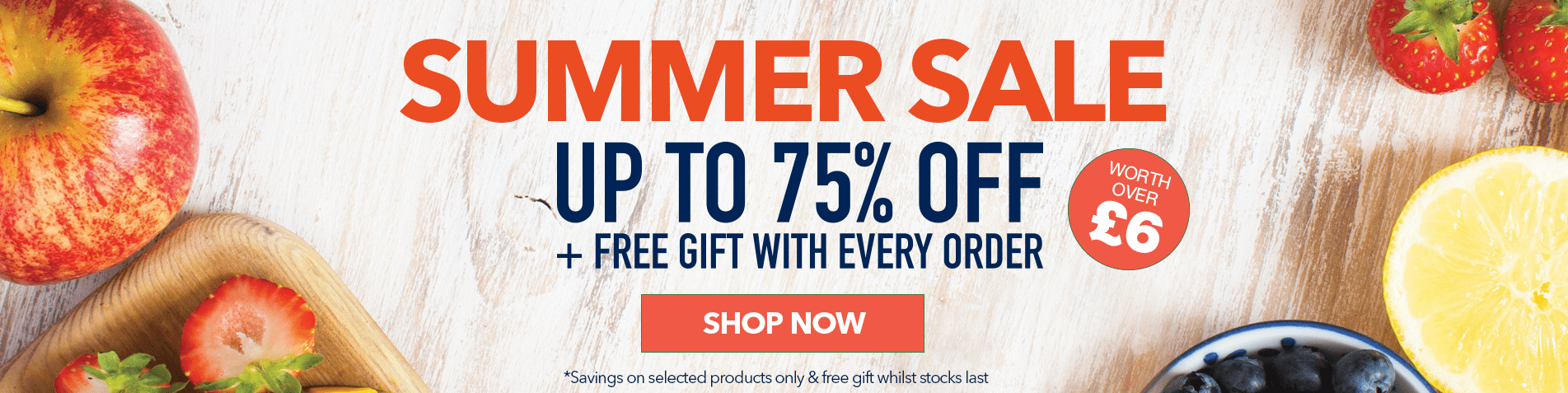 Summer Sale - up to 75% off