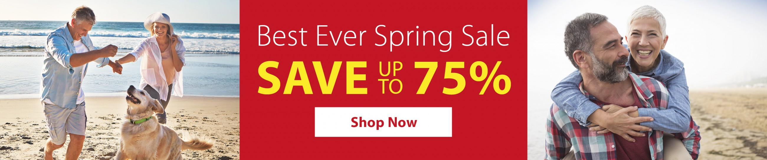 Spring Sale - up to 75% off