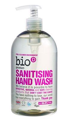Bio-D Geranium Sanitising Hand Wash 500ml