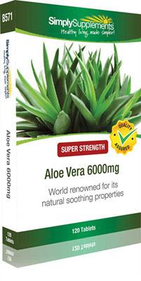 Aloe Vera 6000mg - 120 Tablet Blister Pack