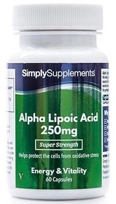 Alpha Lipoic Acid (ALA) Capsules 250mg