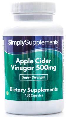 Apple Cider Vinegar Capsules 500mg - E521