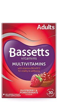 Bassetts Multivitamins - Adult Raspberry & Pomegranate