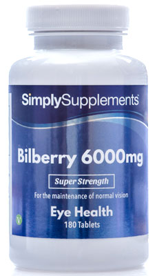 Bilberry Plus Extract Tablets 6,000mg