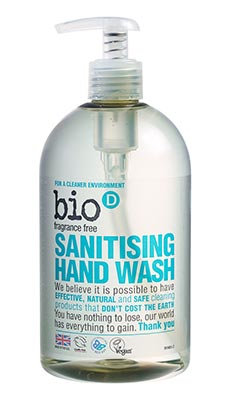 Bio-D Anti-Bacterial Hand Wash Fragrance Free (500ml)