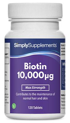 Biotin Tablets 10,000mcg
