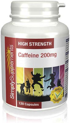 120 Capsule Tub - Caffeine Supplements 200mg