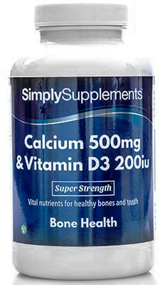 Calcium 500mg & Vitamin D3 200iu Tablets