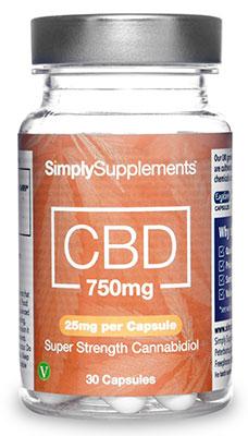 CBD Capsules 750mg (25mg per capsule)