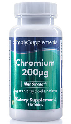 Chromium Tablets 200mcg - E544