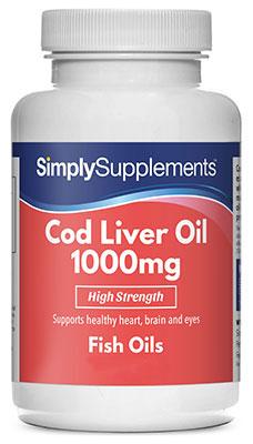 Cod Liver Oil Capsules 1000mg - S143