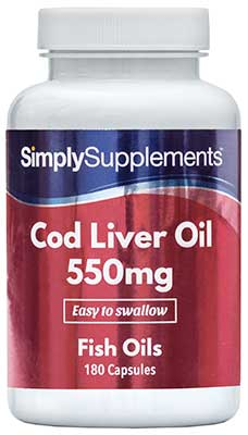 Cod Liver Oil Capsules 550mg