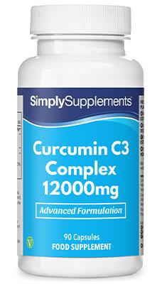 Curcumin C3 Complex 12,000mg (Turmeric) Capsules