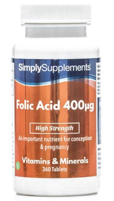 Folic Acid / Vitamin B9 Tablets 400mcg - E159