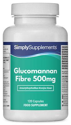 Glucomannan Fibre Capsules 500mg