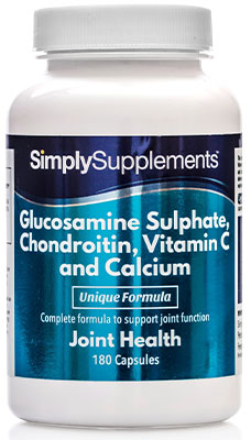 Glucosamine 410mg, Chondroitin 100mg, Vitamin C and Calcium