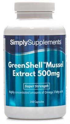 GreenShell Green Lipped Mussel Extract Powder 500mg