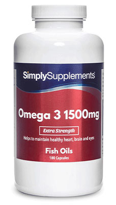 High Strength Omega 3 Fish Oil 1500mg