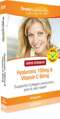 60 Capsule Blister Pack - hyaluronic acid with vitamin c capsules