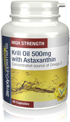Krill Oil 500mg with Astaxanthin - 90 Capsule Tub