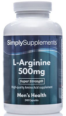 240 Capsule Tub - l-arginine supplement 500mg