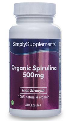 Organic Spirulina Capsules 500mg