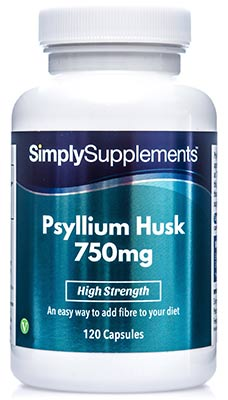 Psyllium Husk Capsules 750mg - E589