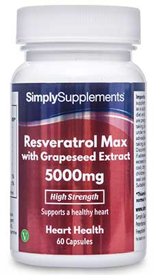 Resveratrol Max 5,000mg with Grapeseed Extract