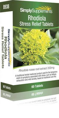 60 Tablet Blister Pack - rhodiola tablets