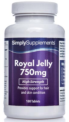 180 Tablet Tub - royal jelly 750mg
