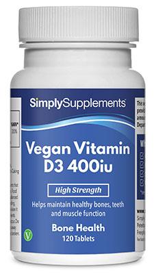 Vegan Vitamin D3 400iu Tablets