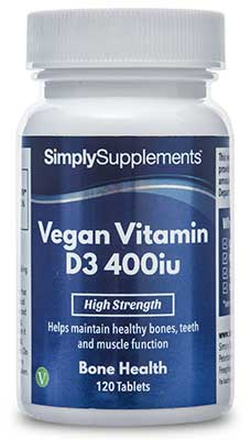 Vegan Vitamin D3 400iu Tablets