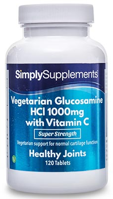 Vegetarian Glucosamine HCl 1000mg with Vitamin C 40mg