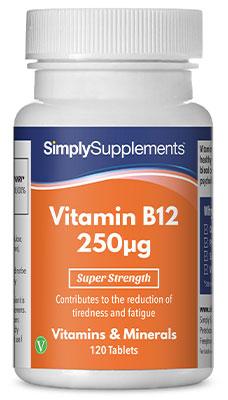 Vitamin B12 Tablets 250mcg - E906